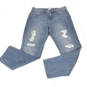 J.CREW Boyfriend Distressed Jeans Size 28